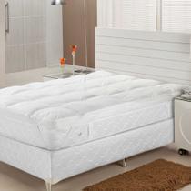 Pillow Top  Fibra Siliconizada Em Flocos  King  193X203   Plumasul -