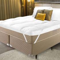Pillow Top King Trevalla Confort Algodão 200 Fios C/ Elástico Branco -