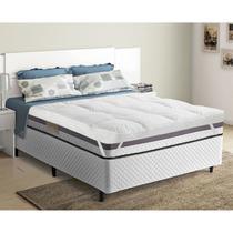 Pillow Top P/ Cama Queen Trevalla Confort 200 Fios Elástico Branco -