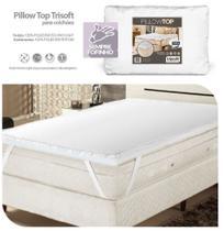 Pillow Top Para Colchões Solteiro Fibras Petfom Trisoft -