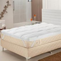 Pillow Top Queen Fibras Siliconizadas 233 Fios Branco Plumasul -