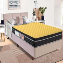 Pillow Top Queen Massageador Casca de Ovo Espuma D23 - BF Colchões -