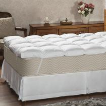 Pillow Top Solteiro Plumasul Fibra Siliconada Percal 233 Fios Branco -
