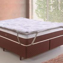 Pillow Top Toque de Plumas Casal 1,38x1,88 - Tessi - Branco -