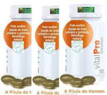 Pílula do Homem - Óleo de Sementes de Abóbora -  KIT COM 3 FRASCOS DE 60 CÁPSULAS DE 1G CADA - Pure Life