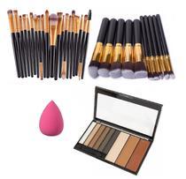 Pincéis Para Maquiagem Sombra Brush Playboy Kit 30 Peças - Shoopweb