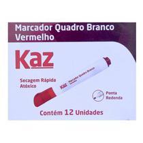 Pincel marcador para  quadro branco kaz - cx. c/ 12 un - vermelho - aruforte -