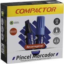 Pincel Marcador Perm Traco Grosso Azul Cx.c/12 Compactor -