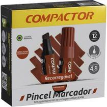 Pincel Marcador Perm Traco Grosso Vermelho Cx.c/12 Compactor -