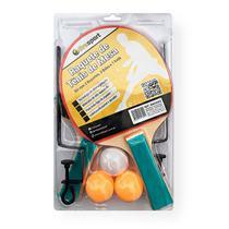 Ping Pong Com 2 Raquetes 3 Bolas e Rede Suporte - Bwx