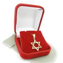 Pingente Estrela 20mm Folheado Ouro Pi116 - Wnbijouterias