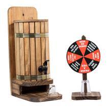 Pingometro barril rustico para cachaça  com jogo roda roleta - Ame Decor Casa E Jardim