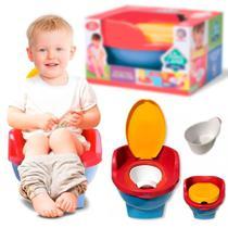 Pinico Troninho de Transição Pipinico Azul Cardoso Toys 2x1 Infantil -