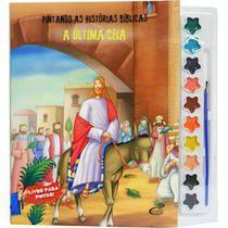 Pintando as histórias bíblicas: A última ceia - Livro com aquarela - Cedic -
