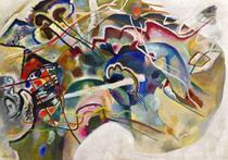 Pintura com Borda Branca - Wassily Kandinsky - Tela 60x85 Para Quadro - Santhatela