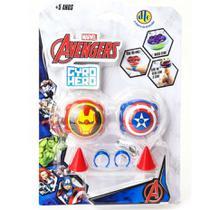 Piões de Batalha Giro Hero Disney Marvel Avengers Capitão América e Iron-Man 4923 - DTC -