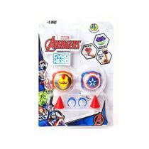 Piões De Batalha - Giro Hero - Disney - Marvel - Avengers - Capitão América E Iron-man - Dtc -
