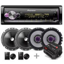 Pioneer Aparelho Som Mvh-x3000br Bluetooth Saída Sub + Kit 2 Vias + Falante 6 Pol + Módulo Stetsom Ir160.2 -