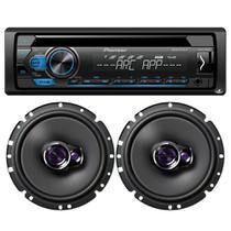 Pioneer Toca CD Player Deh-s1280ub + 02 Falantes 6 Polegadas -