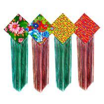 Pipa Decoração Festa Junina em Tecido de Chita - festabox