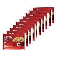 Pipoca cinemark kit c/ 10 unid sabor original -