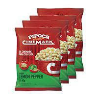Pipoca cinemark kit c/ 4 pipocas sabor lemon pepper -
