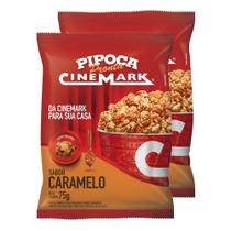 Pipoca pronta cinemark kit c/ 2 unid sabor caramelo -