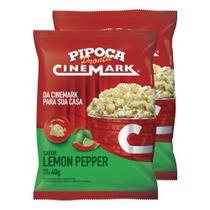 Pipoca pronta cinemark kit c/ 2 unid sabor lemon pepper -