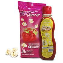 Pipoca Tradicional + Sabor Morango + Óleo Vegetal sabor de Manteiga - Flavored Popcorn