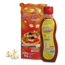 Pipoca Tradicional + Tempero Pizza + Óleo sabor Manteiga p/ Pipoqueira - Flavored Popcorn