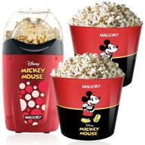 Pipoqueira Elétrica Disney Mickey Mallory +2 Baldes Pipoca -