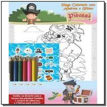 Piratas - mega colorindo com adesivos e glitter ( inclui lápis de cor ) - Online -