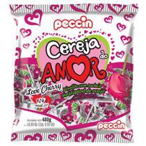 Pirulito Cereja do Amor Recheado c/24 - Peccin -