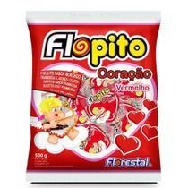 Pirulito Coração Vermelho Flopito 500gr - Florestal -