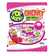 Pirulito Pop Mania Cherry Recheio Chiclete c/50 - Riclan - Freegells
