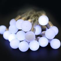 Pisca LED à Pilha Cordão Bolas Brancas 20 Lâmpadas 2m - Magizi