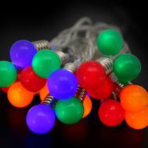 Pisca LED à Pilha Cordão Bolas Coloridas 20 Lâmpadas 2m - Magizi