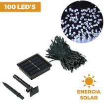 Pisca Pisca Cordão de Luzes Solar 5m 100 LED's Branco Brilhante - Taschibra