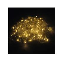 Pisca Pisca Natal Led 100 Lâmpadas Branco Quente 8 funções 110v - Rod