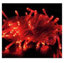 Pisca Pisca Natal Led 100 Lâmpadas l Vermelho 8 funções 110v - Fuxing