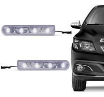 Pisca Retrovisor 4 Leds 12V Branco Slim Tuning Seta Universal - Autopoli