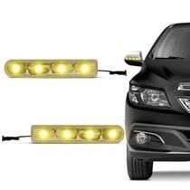 Pisca Seta Retrovisor Com 4 LEDs Slim Seta Universal Luz Amarela Autopoli -