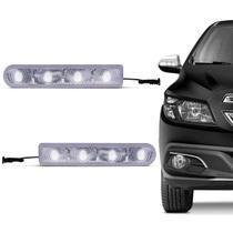 Pisca Seta Retrovisor Com 4 LEDs Slim Seta Universal Luz Branca Autopoli -