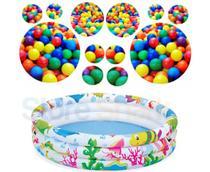 Piscina  De Bolinha Infantil Inflável 100 Litros Colorida + 50 Bolinhas Coloridas - Wellmix