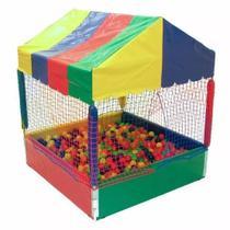 Piscina de bolinhas  1x1 com 500 bolinhas coloridas e tatame em EVA - Natalplast