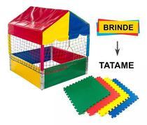Piscina de bolinhas 1x1 com tatame e 500 bolinhas coloridas - Natalplast