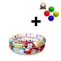 Piscina de Bolinhas das Princesas Disney Infantil 37L + 50 Bolinhas dyin-095_N - Etitoys
