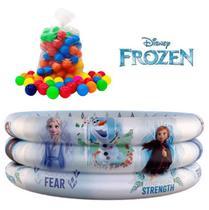 Piscina De Bolinhas Frozen Com 50 Bolinhas 100 Litros Etitoys -