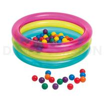 Piscina de Bolinhas Infantil Multicolor Intex 48674
