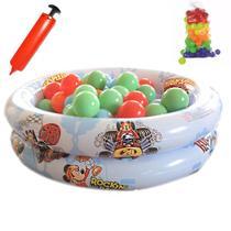 Piscina De Bolinhas Inflável Infantil 48L Mickey 50 Bolinhas Mini Bomba - Yupitoystex